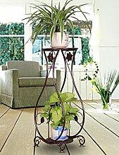 RENZEMIN Blumenständer Eisen Kreativ Mehrschichtig Europäische Stil Innen Wohnzimmer Boden Typ Blumentopf Rahmen Balkon Spinnen Pflanzen Blumenregal Pflanzentreppe ( Farbe : B )