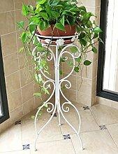RENZEMIN Blumenständer Europäische Art-Eisen-Blumen-Zahnstange Wohnzimmer Einzelne Schicht Erdgeschoss-Art Balkon Im Freien Chlorophytum-Pflanzen-Blumen-Zahnstange Pflanzentreppe ( Farbe : A , größe : 33.5*39*96cm )