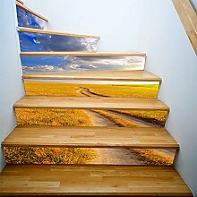 RENZHAO Treppenaufkleber 13 Stück Gras Feld
