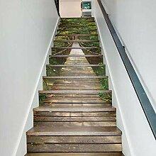 RENZHAO Treppenaufkleber 13 Stück Mini schöne