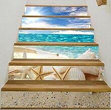 RENZHAO Treppenaufkleber 13 Stück Starfish