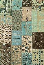 Repro Vintage Teppich 140 x 200 cm Petrol