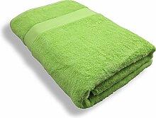Repura Duschtuch Lounge (Kiwi) Grün 80x160 XXL - 600g m2 schwere Qualität - Luxus Frottee aus Baumwolle - modern, edel, flauschig, groß, weich - Sauna-Bade-Hand-Tuch Wellness