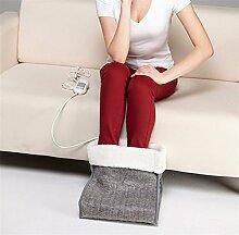 RERE Atmungsaktiver Elektrischer Fußwärmer mit kuschelweichem und herausnehmbarem Fleecefutter , gray