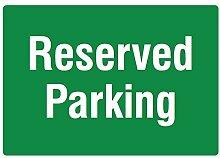 RESERVED PARKING grün Schild–Garage Viel Mitarbeiter Gäste Resident Schilder.