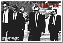 Reservoir Dogs Lets Go to Work Poster Kork