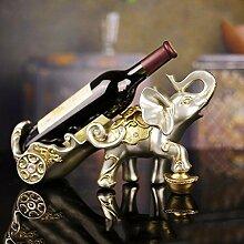 Resin Handwerk Heimtextilien Lucky Elefanten Rotwein Rack kreative Geschenke