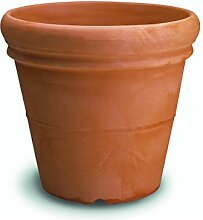 Resin Smooth Vase with Double Edge cm. 100 Marrone