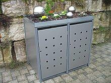 Resorti Mülltonnenbox Quadra 2-4 Mülltonnen mit