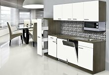 respekta Einbau Küche Küchenblock 225 cm Eiche
