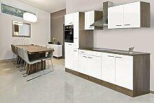 respekta Einbau Küche Küchenblock 300 cm Eiche