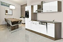 respekta Einbau Küche Küchenblock 310 cm Eiche