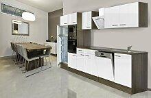 respekta Einbau Küche Küchenblock 340 cm Eiche