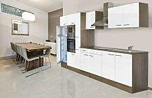 respekta Einbau Küche Küchenblock 360 cm Eiche