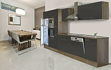 respekta Einbau Küche Küchenblock 370 cm Eiche