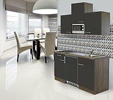 respekta Einbau Single Küche Küchenblock 150cm