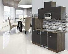 respekta Einbau Single Küche Küchenblock 180cm