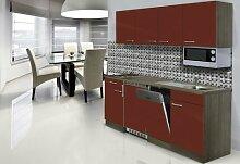 respekta Einbau Single Küche Küchenblock 195 cm