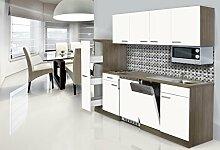 respekta Einbau Single Küche Küchenblock 225 cm