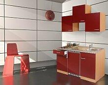 respekta KB150BR Küchenzeile Küchenblock Single