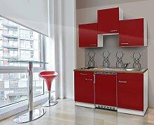 respekta KB150WR Küchenzeile Küchenblock Single