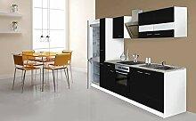 respekta Küche Küchenzeile Küchenblock 300cm