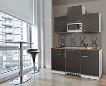 respekta Küchenblock 150 cm weiß grau mit APL