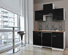 respekta Küchenblock 150 cm weiß schwarz mit APL