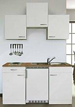 respekta Küchenblock 150 cm weiß weiß mit APL