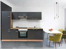respekta Küchenblock 270 cm Buche (Grau,