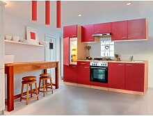 respekta Küchenblock 270 cm Buche (Rot,