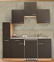 RESPEKTA Küchenzeile, Breite 180 cm Kühlschrank: