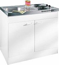 RESPEKTA Miniküche, mit Duo-Kochmulde B/H/T: 100