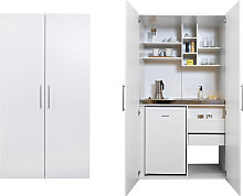 RESPEKTA Miniküche, mit Glaskeramik-Kochfeld und