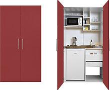 RESPEKTA Miniküche, mit Kochplatten, Kühlschrank