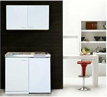 respekta Miniküche weiß (100 cm, mit Oberschrank)