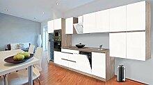 respekta Premium grifflose Küchenzeile Küche 445