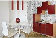 respekta Single Küche Küchenzeile Küchenblock 180 cm Buche rot Ceran KB180BRC