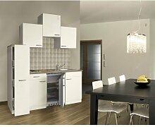 respekta Single Küche Küchenzeile Küchenblock 180 cm weiß weiß Ceran KB180WWC