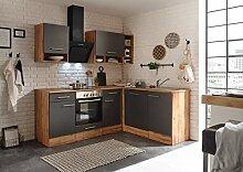 respekta Winkelküche Küchenzeile Küche L-Form