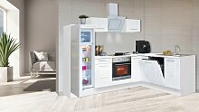 RESPEKTA Winkelküche RP260, mit E-Geräten,