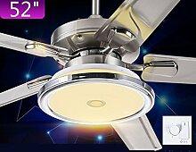 Restaurant Das Herunterbrechen der Lichter moderne Kronleuchter Deckenventilatoren homepage Edelstahl Ventilator (Größe: 52 Zoll)
