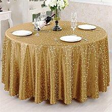 Restaurant Hotel Runder Tisch Tischdecke Stoff Western Restaurant Hotel Tischdecke Tischdecke Europäische Stil Jacquard Tischdecke ( farbe : # 2 , größe : 180cm )