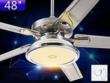 Restaurant Lüfter Leuchten Moderne Deckenventilatoren Startseite Edelstahl Ventilator Kronleuchter (Größe: 48 Zoll)