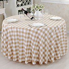 Restaurant Tischdecke Checkered Tischdecke Tagungsraum Tapete Couchtisch Tuch Tapete Runder Tisch Tuch Stoff Einfache und moderne Western Restaurant Tischdecke Tischdecke decke ( Farbe : F , größe : 160cm )