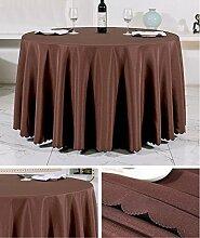 Restaurant Tischdecke Europäisches Hotel Tischtuch Rund Tischdecke Dickheit Pure Schwarz Tisch Stoff Stoff Hochzeit Hotel Tischdecke Rund Tischdecke decke ( Farbe : C , größe : Rounds 2.6m )