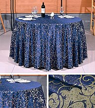 Restaurant Tischdecke Hotel Tischdecke Hotel Round Tischdecke Continental Restaurant Rechteckige Tischdecke Großer runder Tisch Tischdecke Tischdecke decke ( Farbe : A2 , größe : Rounds 2.2m )
