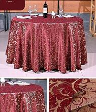 Restaurant Tischdecke Hotel Tischdecke Hotel Round Tischdecke Continental Restaurant Rechteckige Tischdecke Großer runder Tisch Tischdecke Tischdecke decke ( Farbe : A4 , größe : Round 1.8m )