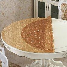 Restaurant Tischdecke PVC Runde Tisch Tischdecke Wasserdicht Ölbeständige Speisetisch-Matte Weiche Tischdecke Runde Kaffeetisch-Matte Tischdecke decke ( Farbe : #4 , größe : Durchmesser 60cm )