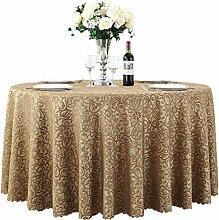 Restaurant Tischdecke Runder Tisch, Tischdecke, Tuch, Restaurant, Hotel, Esstisch, Couchtisch, Blumen, Bankett, Tischdecke, langlebig Tischdecke decke ( Farbe : #3 , größe : 260cm )
